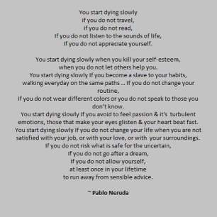 choose life neruda